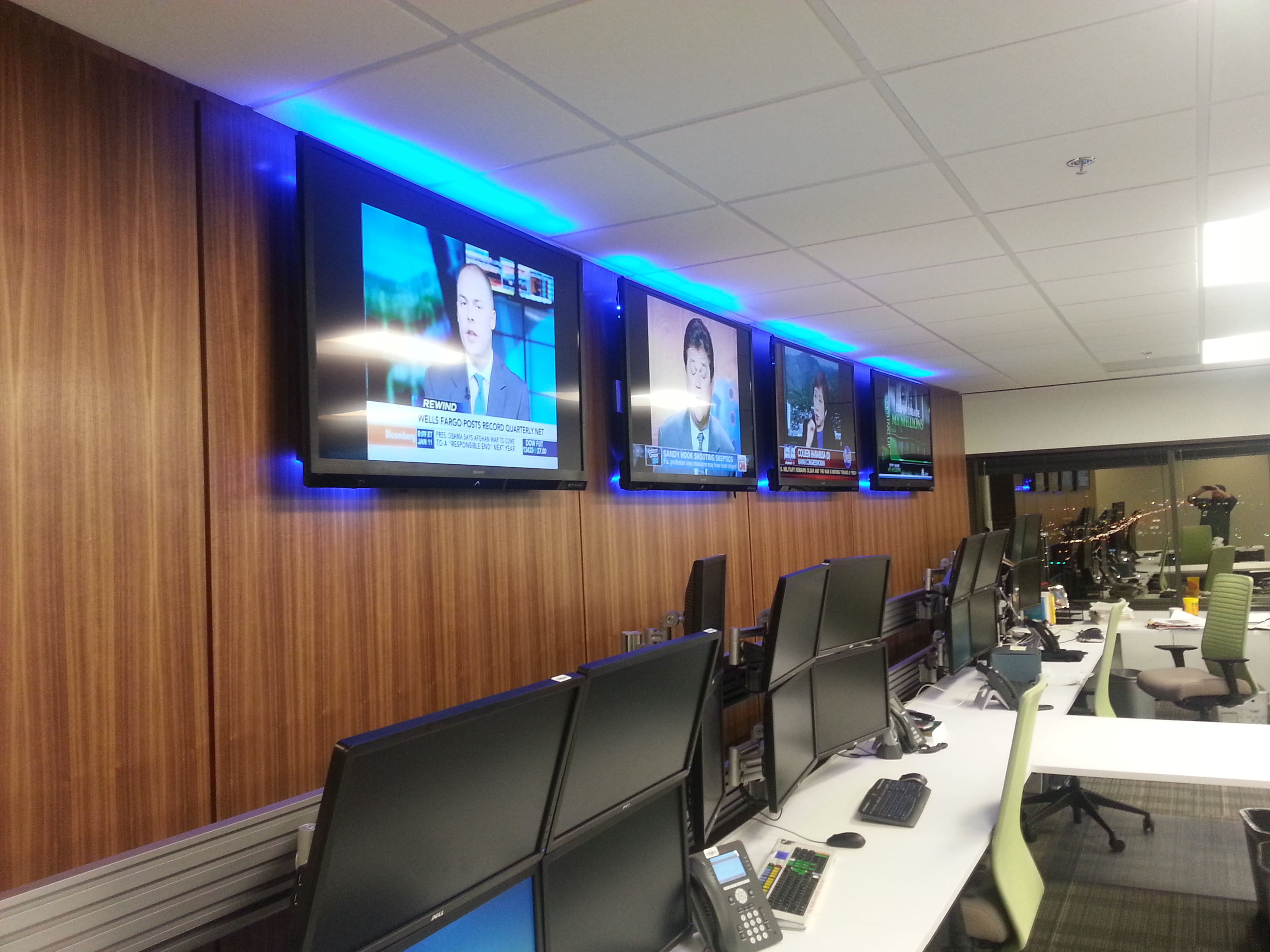 Custom Audio Video Solution For Commercial Office Training Room