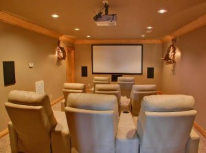 Custom Home Theatre Room in Austin