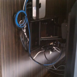 Electrical outlet relocation kit for home theater or tv installation in Austin